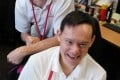 Kyaw Saing (front) and Edward Bunker. Photo: Dickson Lee