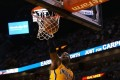 Pacers' Roy Hibbert dunks the ball on his way to postseason career-high of 29. Photo: AP