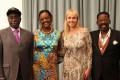 Robert and Grace Mugabe, with Rachel and Dali Tambo. Photo: SABC