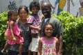 Joyce Samoutou-Wong and her husband Henri with their three children. The couple run an eye surgery clinic in Congo-Brazzaville. Photo: Joyce Samoutou-Wong