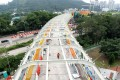 A viaduct section of the South Island Line (East) at Wong Chuk Hang, where work is well under way. Photo: K.Y. Cheng