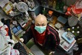 Mr Lo rents a cubicle in Kwun Tong with poor ventilation. Photo: Thomas Yau