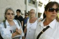 The family of Italian photographer Fabio Polenghi who was killed in the Thai capital in 2010, (left right) younger sister Elisabetta Polenghi, mother Laura Chiorri and elder sister Arianna Polenghi in Bangkok. Photo: Reuters