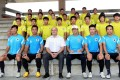 Hong Kong FA chief executive Mark Sutcliffe (front, centre). Photo: May Tse