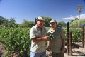 Viens (right) at winemaker Allan Walken-Davis' (left) vineyard in Namibia. Photo: Maria Conti