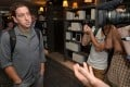 Guardian reporter Glenn Greenwald who interviewed NSA whistleblower Edward Snowden talks to reporters at the W Hotel in Kowloon on Monday. Photo: Felix Wong