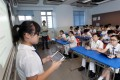Form 1 students use their iPads at Pui Ching Middle School in Ho Man Tin. Photo: May Tse