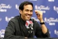 Miami Heat head coach Erik Spoelstra responds to a question during a news conference for the NBA Finals basketball playoff series in San Antonio, Texas. Photo: Reuters
