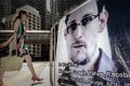 A banner displayed in support of Edward Snowden in Central. Photo: AFP