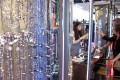 Buyers browse jewellery pieces at the Jewellery & Gem Fair in Hong Kong. Photo: Xinhua