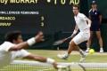 Fernando Verdasco returns to Andy Murray during their quarter-final match. Photo: AP