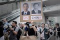 Protesters march to the US consulate in Hong Kong in support of US whistle-blower Edward Snowden on June 15. Photo: AFP