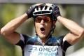 Matteo Trentin celebrates his Tour stage win. Photo: EPA