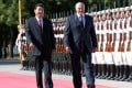 Chinese President Xi Jinping (left) pictured with Belarusian President Alexander Lukashenko on July 16, 2013. Photo: Xinhua