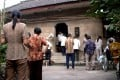 Villagers stand during a prayer at a rural Christian church in Wuhu, Anhui Province. Photo: EPA