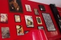 Nazi-related memorabilia hanging on a wall at Soldatenkaffe restaurant in Bandung, West Java, Indonesia. Photo: AP