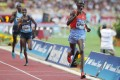 Kenya's Asbel Kiprop leaves Britain's Mo Farah trailing in his wake in the 1,500 metres at the Diamond League meeting. Photo: AFP