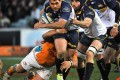 Brumbies' George Smith in action against the Cheetahs. Photo: AFP