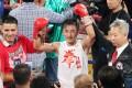 Zou Shiming celebrates after winning the Fists of Gold II at Venetian, Macau. Photo: Edward Wong