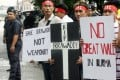 Myanmar citizens protested in Malaysia against a controversial Chinese dam building project. Fierce opposition led to the cancellation of the project. Photo: AFP