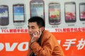 A man talks on a mobile phone in Tancheng County, Linyi City of east China's Shandong Province. Photo: Xinhua