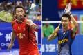 Lin Dan of China and Lee Chong Wei of Malaysia. Photos: Xinhua