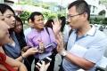 Li Jianjun talks to the media in Admiralty yesterday. Photo: Sam Tsang