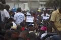 Anti-gay demonstration in Port-au-Prince. Photo: AP