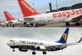 Aeroflot hopes to mirror the success of European low-cost carriers easyJet (top) and Ryanair. Photos: AFP, Bloomberg