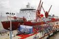Chinese icebreaker Xuelong, or Snow Dragon, harboured in Shanghai. Photo: AP