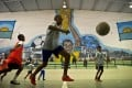 Teenagers hone their skills at the soccer academy in Sao Paulo that is partly funded by Brazil legend Cafu. Photo: AFP