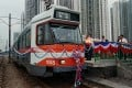 A Light Rail Transit train of the type involved in the accident in Tin Shui Wai on Monday. Photo: SCMP Pictures