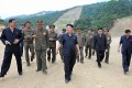 North Korea's leader Kim Jong-un visits the construction site of a ski resort being built on Masik Pass. Photo: Reuters