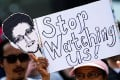 Demonstrators protest against the PRISM surveillance programme by the US National Security Agency (NSA) in Hanover, Germany. Photo: EPA