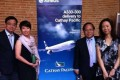 Democratic Party lawmaker James To (left) and wife Sue So; lawmaker Albert Ho and wife, posed at a dinner hosted by the Airbus company in France. Photo: SCMP
