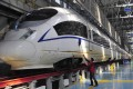 A Harmony bullet train undergoes testing in Shenyang. Photo: Reuters