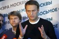 Russian opposition leader Alexei Navalny at his headquarters in Moscow. Photo: AP