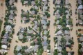 Suburban streets in Longmont, Colorado on Friday following the worst floods to hit the US state in decades. Photo: Reuters