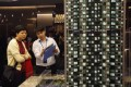 A potential buyer at a property promotional event in Hong Kong. Photo: Reuters