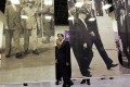 Ma Ying-jeou attends a photo exhibition on the relationship between Taiwan and the United States in Taipei yesterday. Photo: CNA