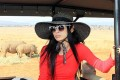 Actress Bai Ling visits the Entabeni game reserve in South Africa in a bid to dissuade Asians from buying rhino horns. Photo: AFP