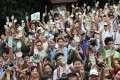 People at Sunday's protest in the Tai Tam park. Photo: David Wong