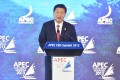 President Xi Jinping speaks at the Apec Summit in Nusa Dua on Indonesia's resort island of Bali on Monday. Photo: AFP