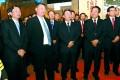 Xi Yuanping attends a meeting honouring his late father. Photo: weibo screenshot