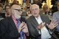 Francois Englert (left) and Peter Higgs won a Nobel prize. Photo: AP