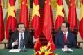 Chinese Premier Li Keqiang held talks with his Vietnamese counterpart, Nguyen Tan Dungl, in Hanoi. Photo: Xinhua