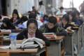 Mainland students take English proficiency exams. Photo: Sinopix