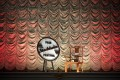 The chair created by Chinese artist Ai Weiwei at the Skandia cinema in Stockholm. Photo: AFP