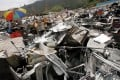 Open-air storage areas for electronic waste in Ta Kwu Ling. Photo: David Wong