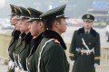 Chinese para-military police stand guard in Tiananmen Square on November 8, 2013. Photo: AFP